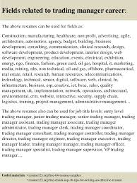 top 8 trading manager resume samples
