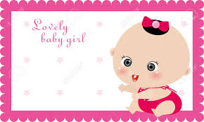 baby girl cards illustrtion of baby girl card birthday card royalty free cliparts