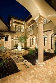 Tuscany Style Homes by Thom Oppelt Tuscany Courtyard With Water Feature Projects To Try