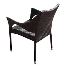 joveco classic rattan wicker outdoor backyard bistro dining chairs