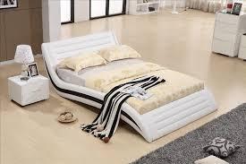 bedroom furniture modern design top grain leather soft bed 1 8 2