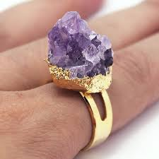 amethyst rings images Natural raw amethyst ring gold amethyst rings amethyst etsy jpg