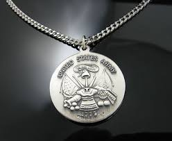 stainless silver necklace images 925 solid sterling silver st christopher protect me us army medal jpg