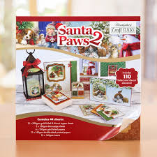hunkydory crafts hunkydory craft stacks santa paws 2 407707 create and craft