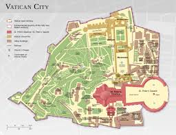 Large Rome Maps For Free by Map Of Vatican City Monuments U0026 Buildings