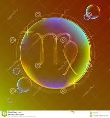 horoscope abstract color sign of the zodiac virgo stock