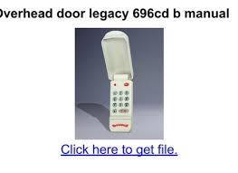 Overhead Door Legacy Troubleshooting Legacy 696 Garage Door Opener Troubleshooting Ppi