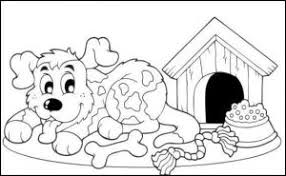 dog house coloring pages free coloring page for kids funnycrafts