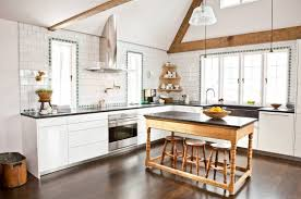 kitchen presenting rustic taste in modern kitchen soothe texture