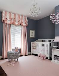Pink And White Curtains For Nursery Baby Nursery Baby Room Decoration Using White Crib And