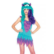 costumes for adults fuzzy blue womens costume inspired by monsters inc
