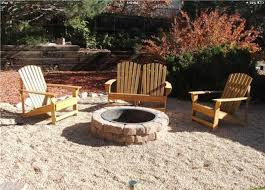 pea gravel fire pit landscaping ideas nice fireplaces firepits