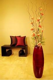 floor vases home decor br li accent your home decor with this bamboo floor vase and white