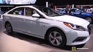 2016 hyundai sonata hybrid exterior and interior walkaround