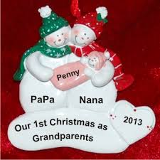 personalized christmas ornaments baby our christmas as grandparents with baby girl