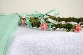 mint green headband moss crown maternity headband circlet wedding wreath woodland