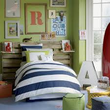 kids bed headboard kids bedroom striped bedding with unique headboard plus green