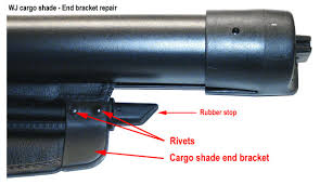 jeep grand trunk cover jeep grand wj cargo shade repair kit