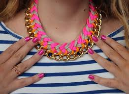 chain necklace diy images Diy chevron chain necklace the stripe jpg