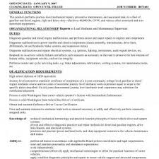 automotive technician resume exles sle resume for entry level auto technician new ideas automotive