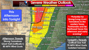 Severe Weather Map 12 10pm Severe Weather Update Level 4 Severe Risk Added For