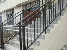 Outdoor Banisters And Railings Handrail Installation Iron Handrail Metal Handrail Stairway Railing