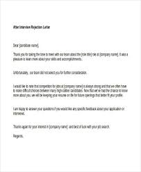 Regret Letter Unable To Join 7 rejection letters free sle exle format