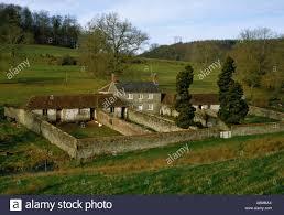 farmhouse old farmhouse with walled yard near stourton on the dorset