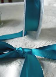 teal satin ribbon blue df satin ribbon 1 x 9 yds