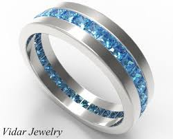 mens blue wedding bands 2 carat fancy blue diamond wedding band vidar jewelry
