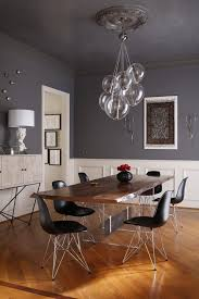 Dark Gray Dining Table Dining Room Contemporary With White - Beadboard dining room