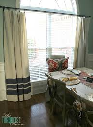 Outdoor Canvas Curtains Diy Drop Cloth Curtains The Turquoise Home