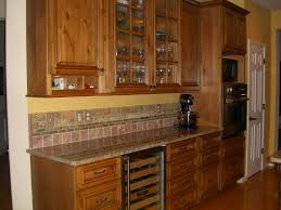 Rustic Alder Kitchen Cabinets Pure White Granite Countertops Hardwood Flooring Decor Black