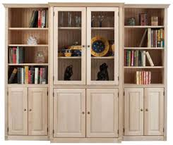 Wall Bookcases With Doors Bookcases Ideas Wood With Doors Design Bookshelf Throughout