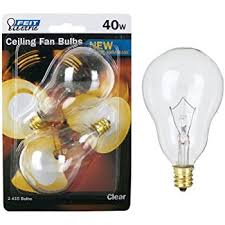 Light Bulbs For Ceiling Fans Feit Ceiling Fan Bulb 40w 120v Clear Candelabra E12 Base Bp40a15c