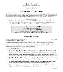 Itil Certified Resume Examples Of Project Management Resumes Resume Example And Free