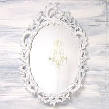 White Oval Bathroom Mirror Ornate White Mirror For Sale Baby Nnursery Decor Unique Vintage