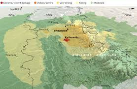 Map Of Nepal And Tibet by Nepal U0027s Earthquake Mapping Its Ripple Effect Across Asia