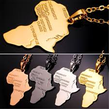 gold color necklace images U7 hip hop african continent gold color pendant necklace jpg
