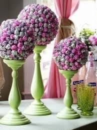 Candy Topiary Centerpieces - free standing bars foter