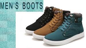men u0027s winter and autumn boots men u0027s new high top canvas casual