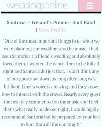 santoria wedding band santoria ireland s premier soul band
