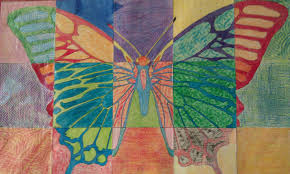 we heart art butterfly mural from art projects for kids