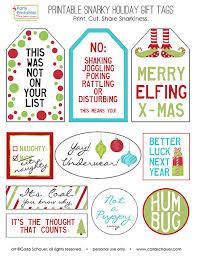 snarky gift tags gift tags printable