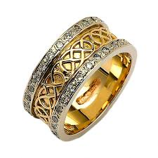 celtic wedding ring gold diamond celtic knot ring