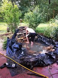 hand dug pond finished in a weekend hometalk
