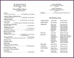 formal wedding programs examples of wedding programs cvsleform