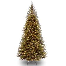 Christmas Trees With Lights 7 5 Ft Pre Lit Green Full Hartford Pine Artificial Christmas Tree
