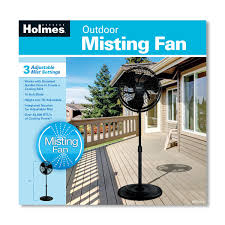 Patio Fans With Misters outdoor misting stand fan black