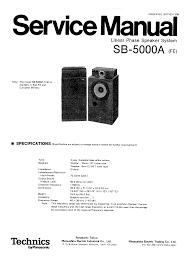 technics sb 5000a service manual immediate download
